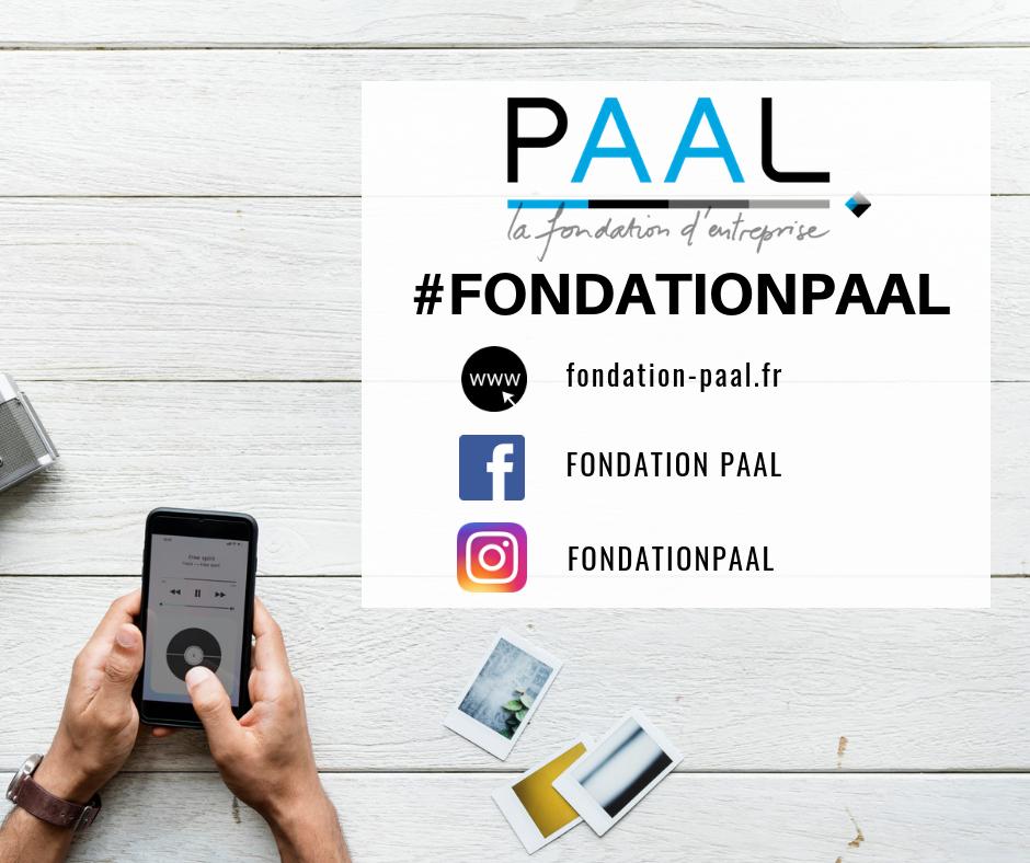 Fondation d'entreprise PAAL - réseaux sociaux