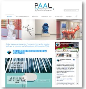 website fondation d'entreprise PAAL miniature