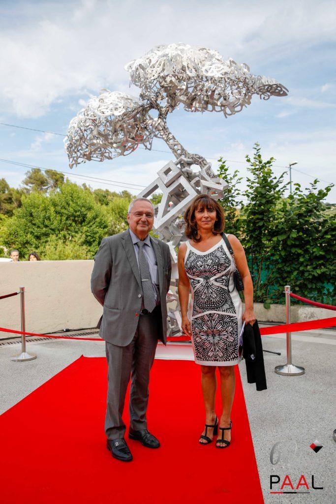 Jean-Pierre SAVARINO - Président de la CCI NICE CÔTE D'AZUR et Christine SCARAMOZZINO, Présidente de la société industrielle azuréenne PAAL | Profilés aluminium