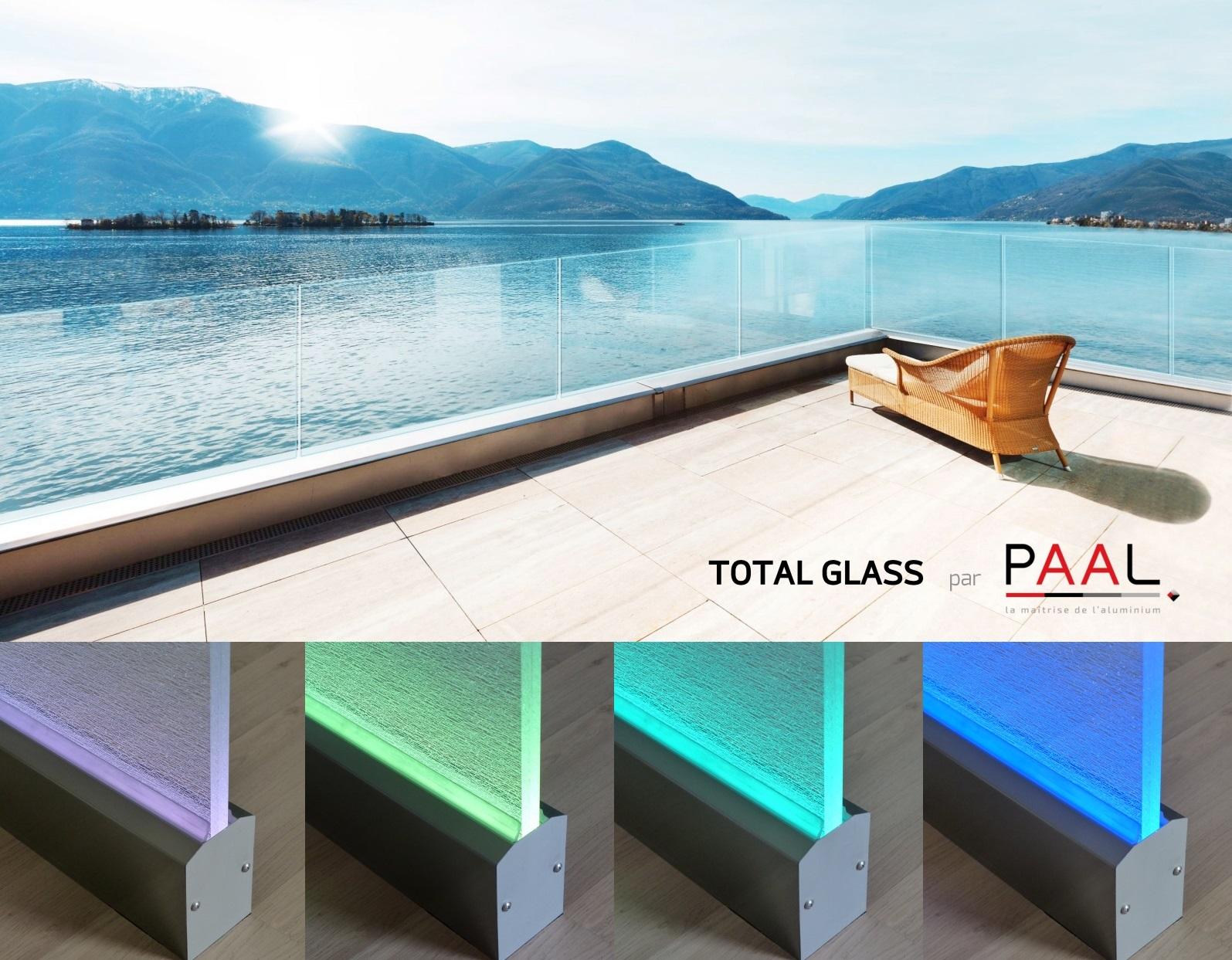 Total Glass, le garde-corps tout en verre qui en met plein la vue ! Grande personnalisation. Installation simplifiée sans nacelle ou échafaudage.