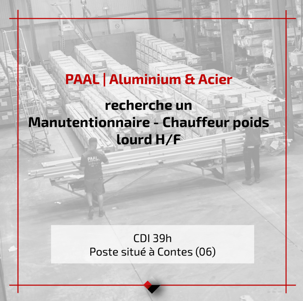 Recrutement PAAL - Offre d'emploi Manutentionnaire - Chauffeur poids lourd HF